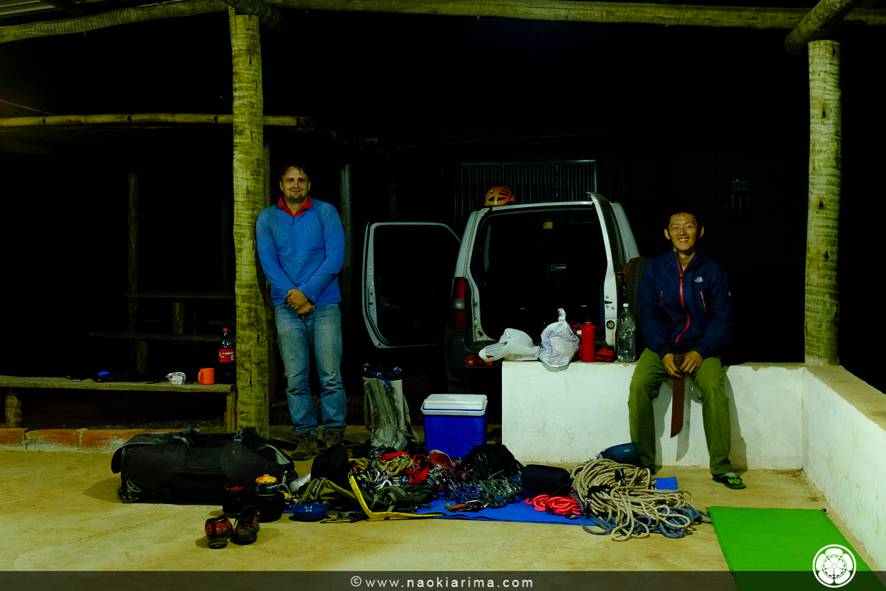 Nosso acampamento cinco estrelas. Pena que o ar condicionado estava um pouco desregulado.