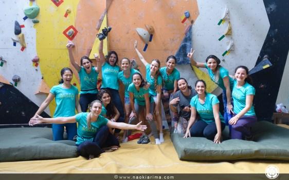 As meninas que deram um show de escalada!