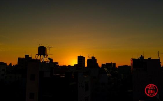 Amanhecer em Tokyo.