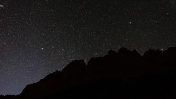 Noite estrelada, garantia de escalada no dia seguinte, ou não...