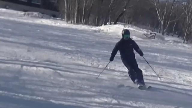 スキー上級者の滑り方の練習法