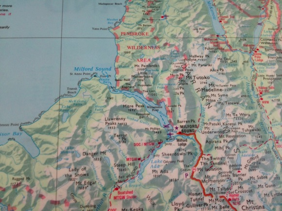 Fiordland National Park Map