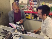 Karim scanning books