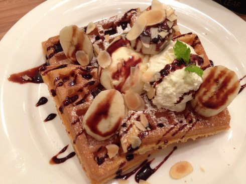 Chocolate & banana waffle