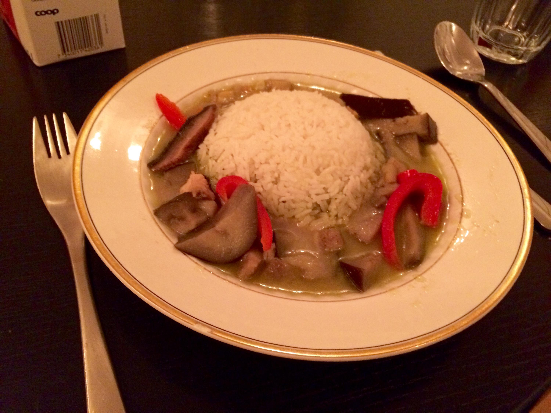 Thai curry for dinner