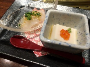 Sea bream + sesame tofu