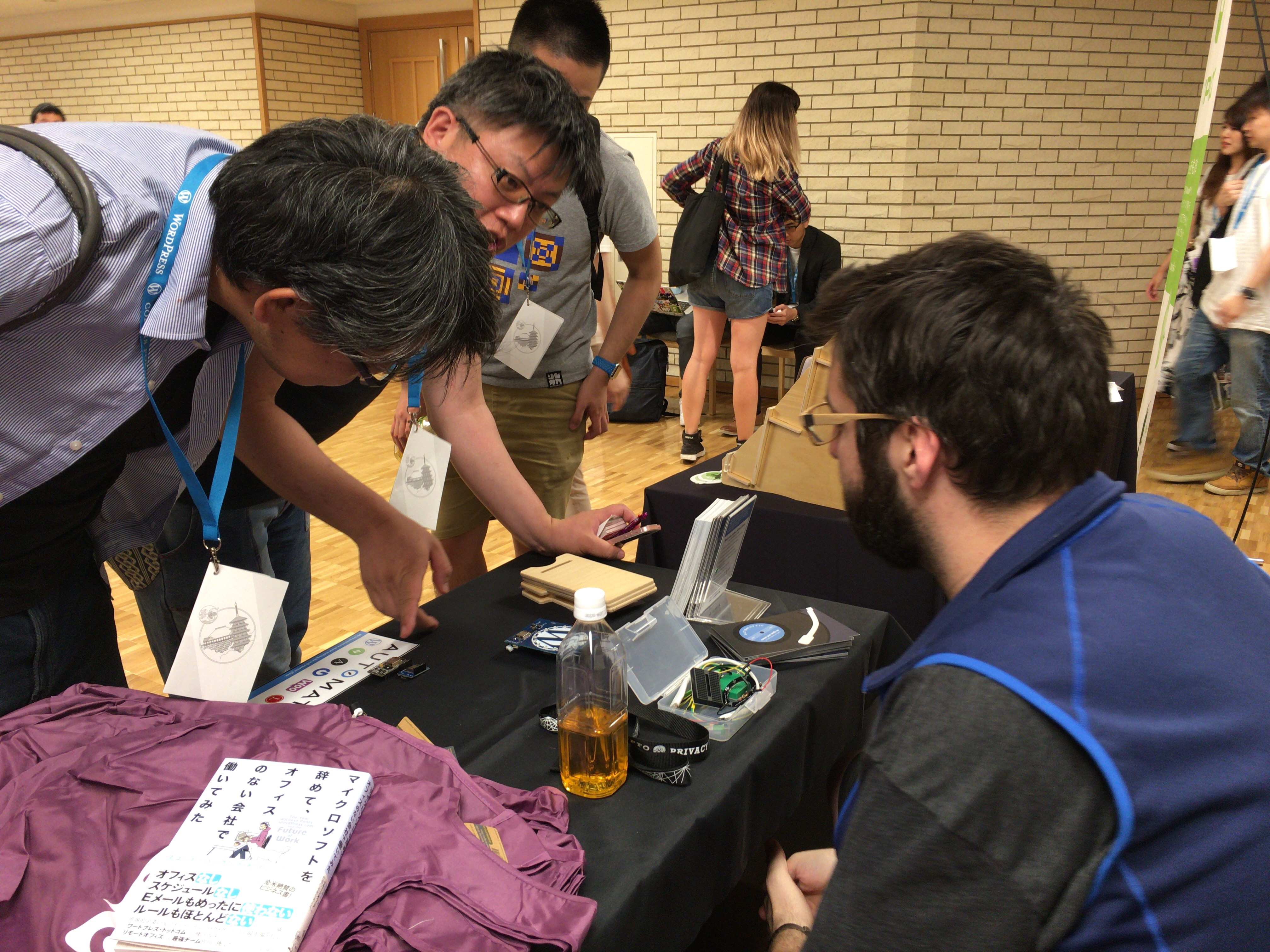 Automattic sponsor booth at WordCamp Kyoto 2017