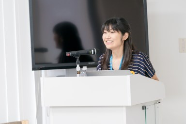Naoko Takano during WordCamp Kyoto 2017 session