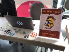WordPress test booth at WCEU