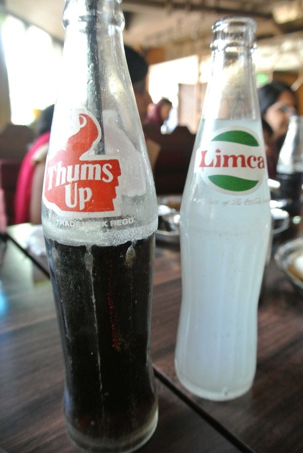 My favourite sodas in India - Thums Up and Limca.