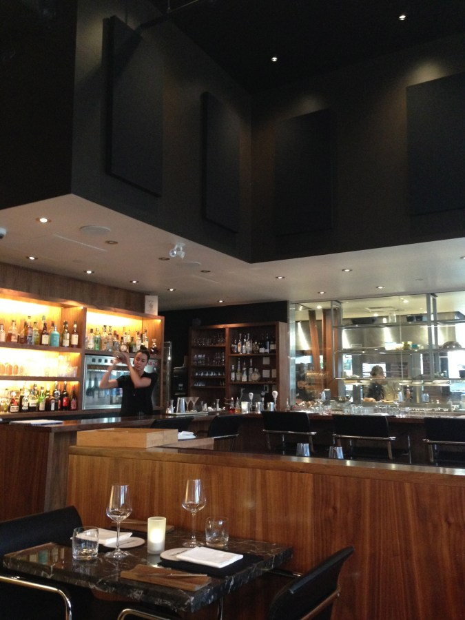 Inside the beautiful Bauhaus Restaurant.
