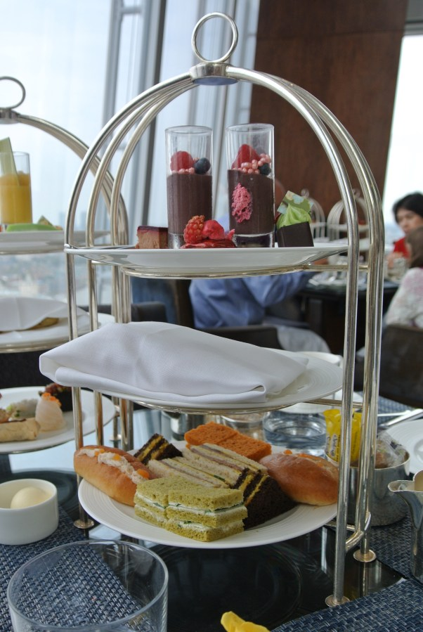 Traditional afternoon tea service
