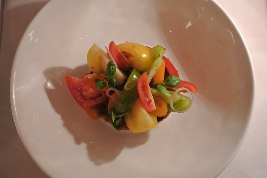 Fresh summer tomato salad.