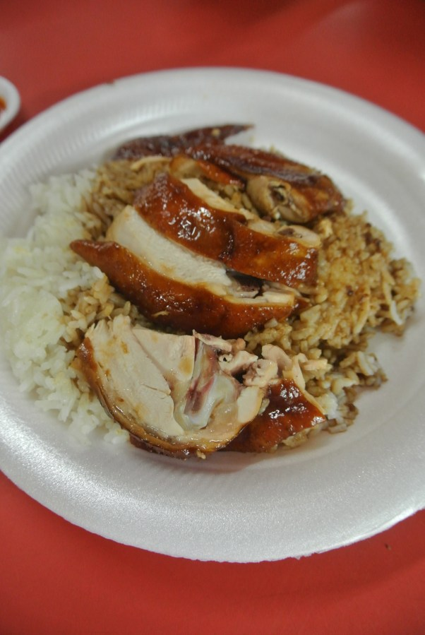The second reason why this dish is so good, the soya sauce that covers the rice.