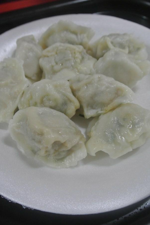 10 Leek and pork dumplings for $5.