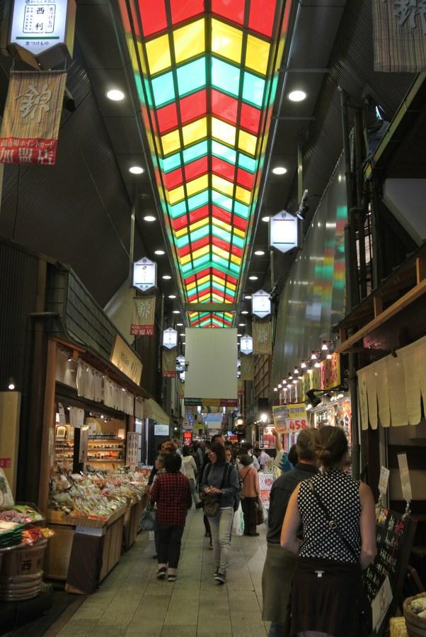 Kyoto's Nishiki Market located in downtown Kyoto.