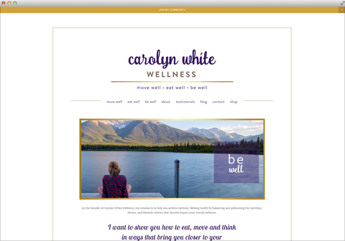 Website for Health Coach Carolyn White