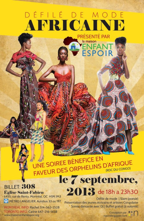 Poster design for African Fashion Show
