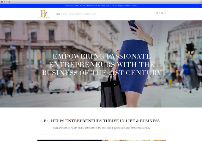 Website for B21 Business of the 21st Century