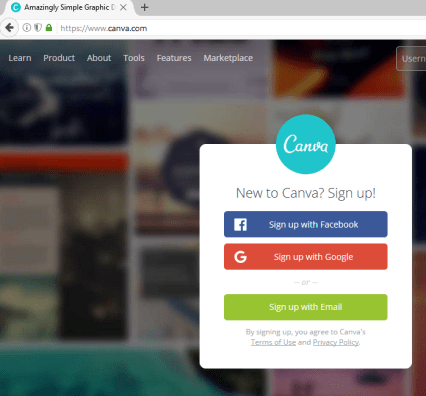 Image of Canva's site appearance, create content in cost-effective ways.