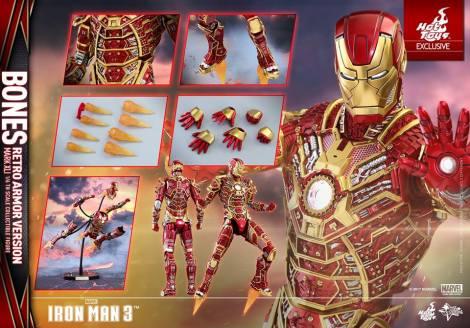 Hot Toys - Iron Man 3 - 1 6th scale Bones Mark XLI (Retro Armor Version) 06