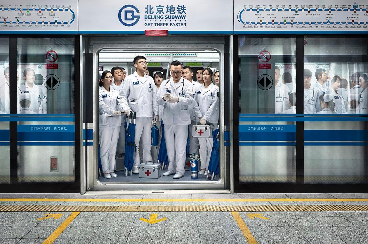 Beijing Subway Print Advert By Grey Paramedics  Ads of