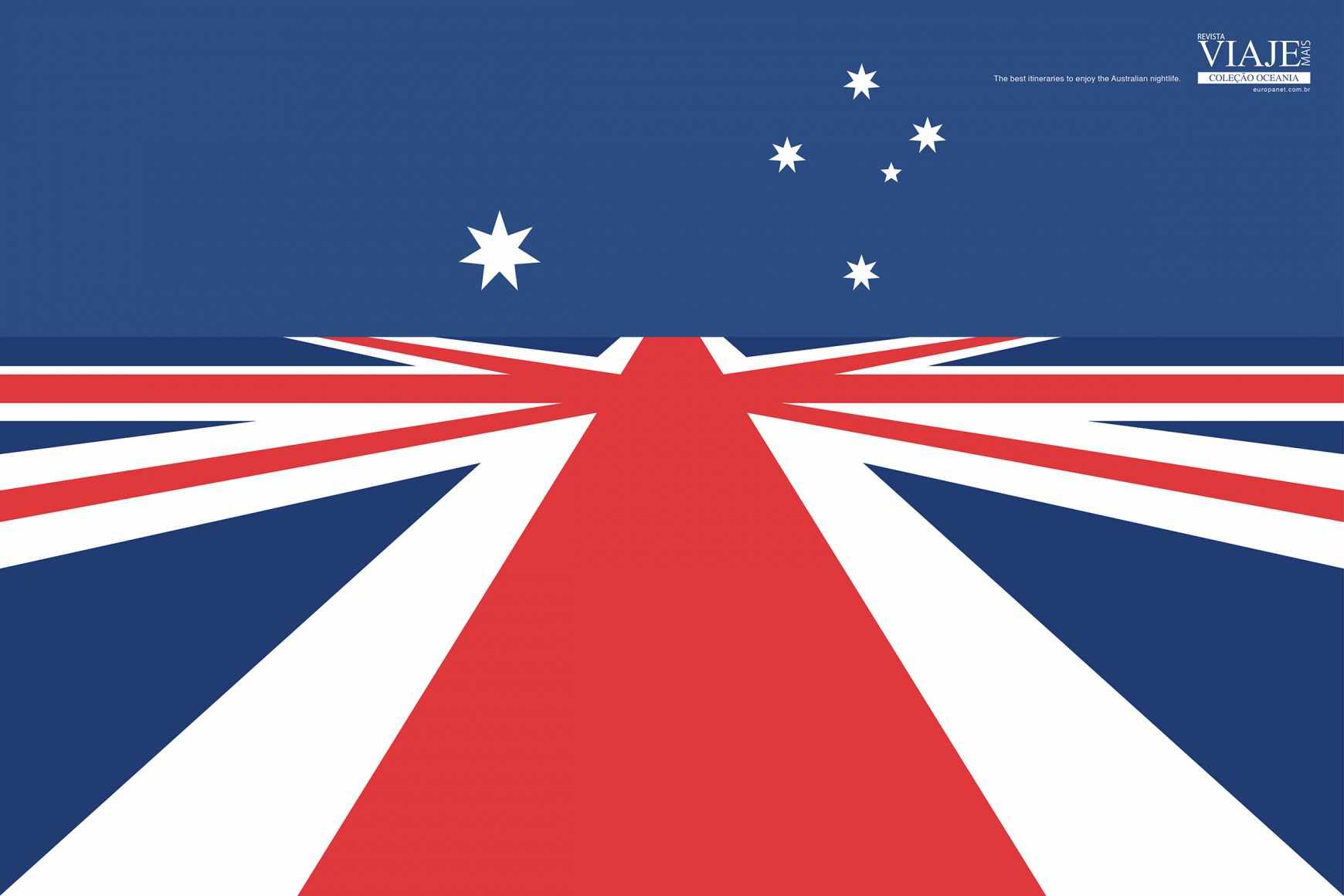 Editora Europa Print Ad - Flags - Australia