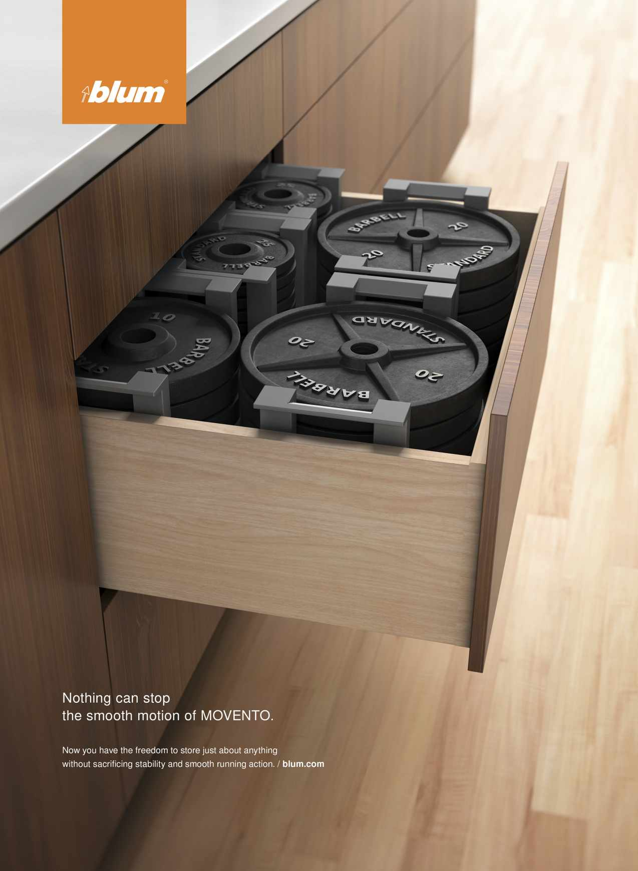 Blum Print Ad - MOVENTO Weights