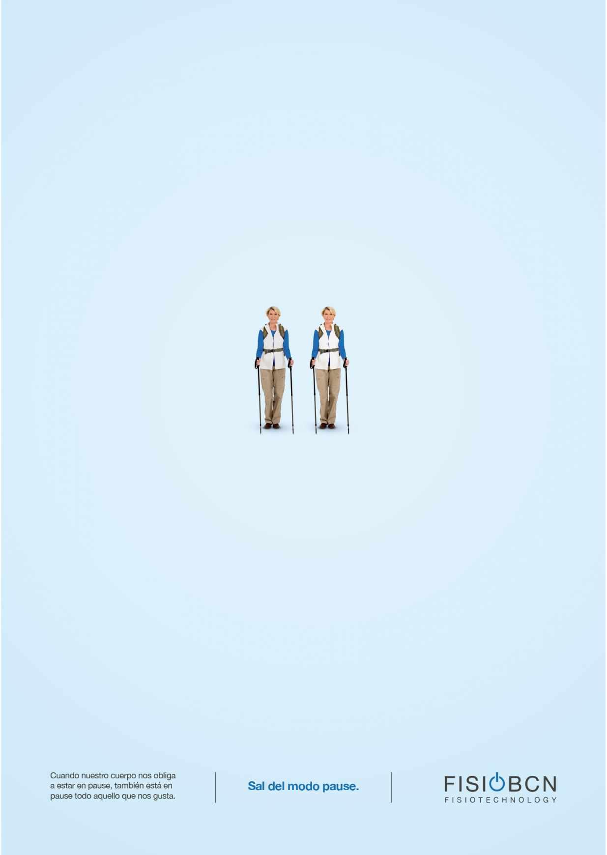 Fisio BCN Print Ad - Pause - Trekking