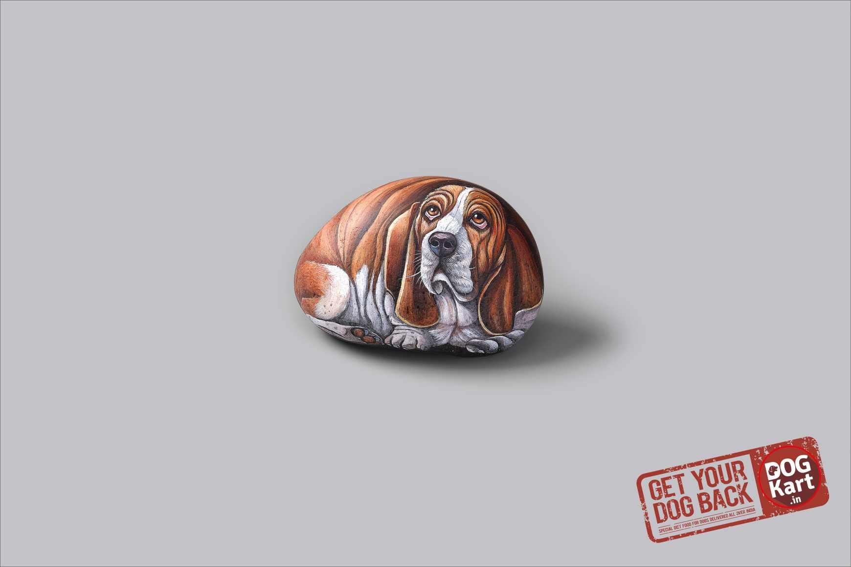 Dogkart Print Ad - Rock Heavy - Basset Hound