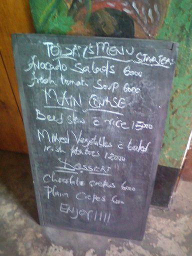 Amajyambere menu