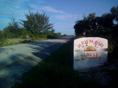 Mfumbwi Lodge看板