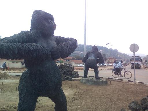 Gorilla Statue After