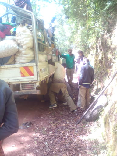 Kabale Buhoma Truck Tire Problem