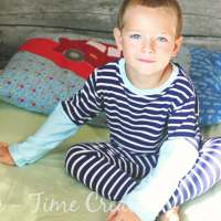 One Hour Pjs with Tutorial and free PDF pattern