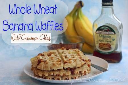 Whole Wheat Banana Waffles by Nap Time Creations