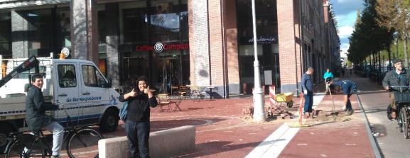De Coffee Company op het heringerichte Javaplein in de Indische Buurt