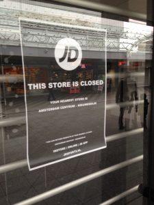 Ook schoenenzaak JD heeft Boven 't Y verlaten