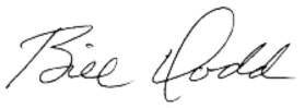 Bill Dodd signature