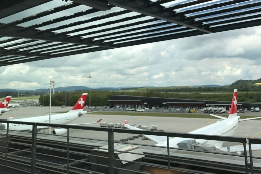 Business class from London to San Francisco on Swiss Air