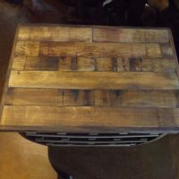 Small Barrel Stave Wine Rack & Side Table - Napa General Store
