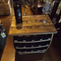 Napa General Store Small Barrel Stave Wine Rack & Side Table