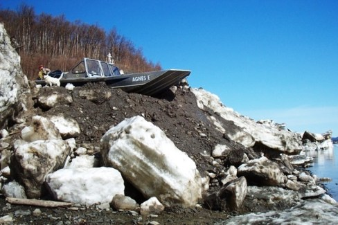 Getting a boat in the water after a bad break up can be challenging. This was Napaimute in 2004.