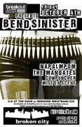 2013 - 10 04 - Bend Sinister, Napalmpom, The Mandates, Cowpuncher, Mise En Scene
