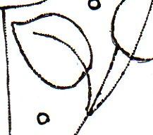Design prepared to transfer onto needlepoint canvas.