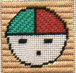needlepoint of sun kachina