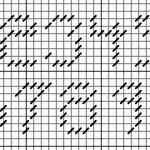 seven stitch numbers charted for needlepoint or cross stitch