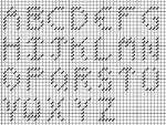 seven stitch alphabet for needlepoint or cross stitch