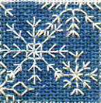 needlepoint blackwork twinchy  of snowflakes