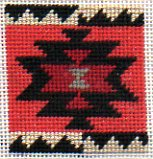eye dazzler navajo rug motif in needlepoint